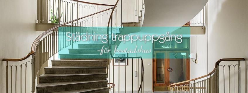 Städning av trappuppgång och trapphus